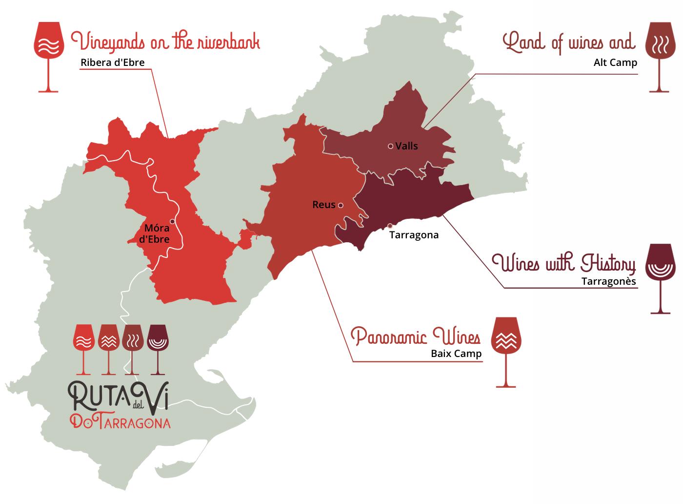 Map of the DO Tarragona