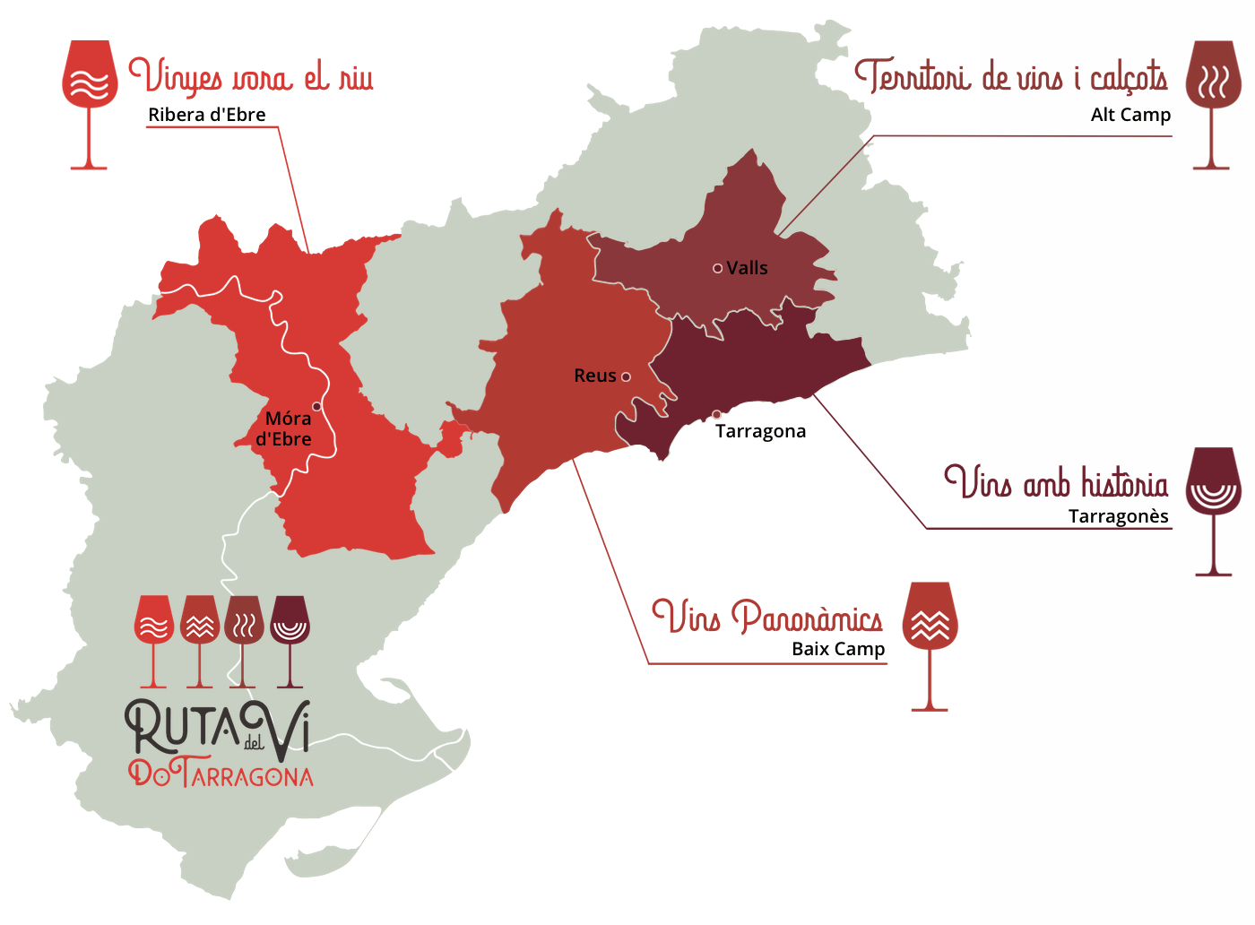 Mapa de la DO Tarragona